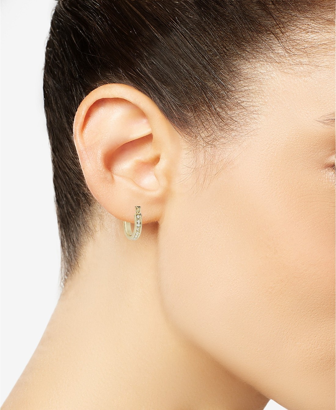 Charter Club Gold-Tone Crystal Mini Hoop Earrings from Macy's2