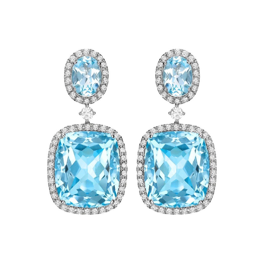 Kiki McDonough Blue Topaz and Diamond