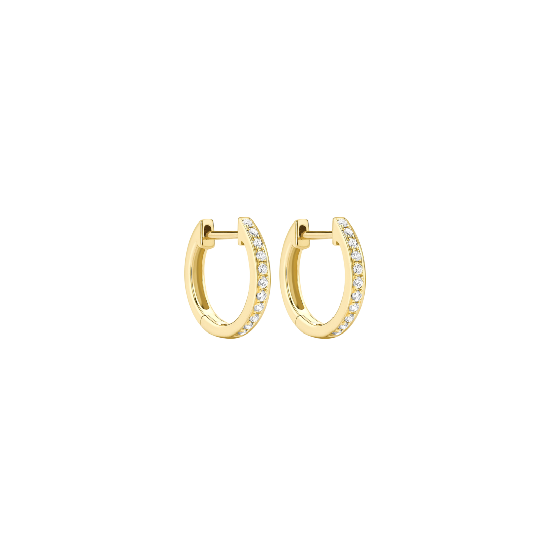 Kiki McDoungh classic 18ct yellow gold and diamond hoops