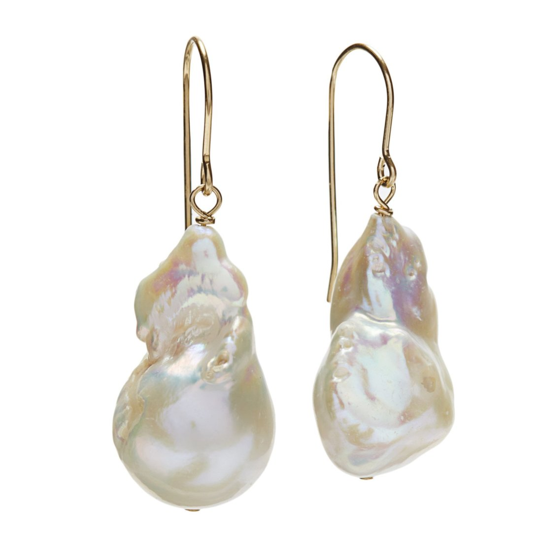 In2Design Baroque Pearl Drop Earrings in gold